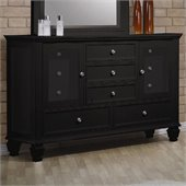 Coaster Sandy Beach Dresser in Black finish