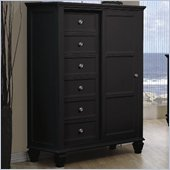 Coaster Sandy Beach 8 Drawer Chest with Sliding Door in Black finish