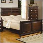 Coaster Temre Panel Sleigh Bed in Cappuccino Finish