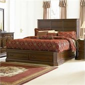 Coaster Foxhill Storage Platform Bed in Deep Brown Finish