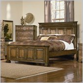 Coaster Edgewood Panel Bed in Warm Brown Oak Finish