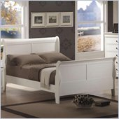 Coaster Saint Laurent Sleigh Bed in White Finish