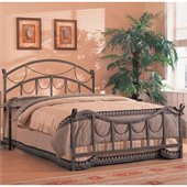 Coaster Whittier Queen Iron Bed in Antique Brass Metal Finish