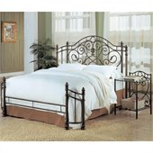 Coaster Beckley Queen Metal Headboard & Footboard in Antique Green