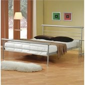 Coaster Stoney Creek Queen Iron Bed in Silver Metal Finish
