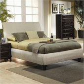 Coaster Phoenix Upholstered Bed in Tan