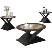 Coaster 3 Piece Occasional Table Sets Contemporary Round Table Set