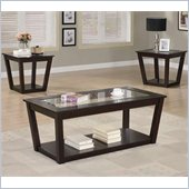 Coaster 3 Piece Occasional Table Sets Contemporary Set with Glass Tops