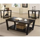 Coaster 3 Piece Occasional Table Sets Contemporary Set in Cappuccino