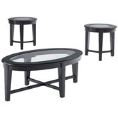 Coaster 3 Piece Occasional Table Sets Table Set w/ Tempered Glass