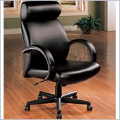 Coaster Office Chairs Faux Leather Executive Chair in Black
