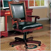 Coaster Office Chairs Traditional Faux Leather Office Task Chair