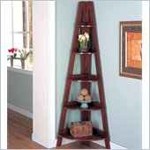 Coaster Bookcases Casual Corner Shelf in Mahogany