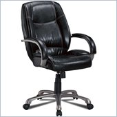 Coaster Office Chairs Faux Leather Office Task Chair in Black