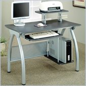 Coaster Desks Gray Computer Desk w/ Keyboard Tray & Computer Storage
