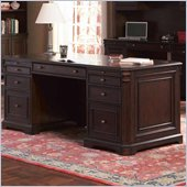 Coaster Cherry Valley Traditional Double Pedestal Computer Desk