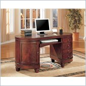 Coaster Desks Kidney Shaped Double Pedestal Computer Desk