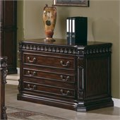 Coaster Union Hill 3 Drawer File Cabinet in Rich Brown