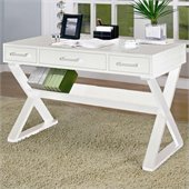 Coaster Desks Desk With Three Drawers in White