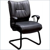 Coaster Office Chairs Casual Faux Leather Office Side Chair in Black