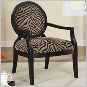 Coaster Accent Seating Louis Style Zebra Print Accent Chair