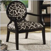 Coaster Accent Seating Louis Style Giraffe Print Accent Chair