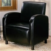 Coaster Accent Seating Vinyl Upholstered Arm Chair in Brown