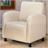 Coaster Accent Seating Vinyl Upholstered Arm Chair in Cream