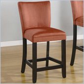 Coaster Bloomfield 24 Microfiber Bar Stool in Terracotta