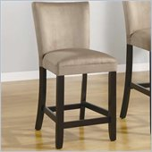 Coaster Bloomfield 24 Microfiber Bar Stool in Taupe