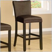 Coaster Bloomfield 29 Microfiber Bar Stool in Chocolate