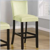 Coaster Bloomfield 29 Microfiber Bar Stool in Light Green