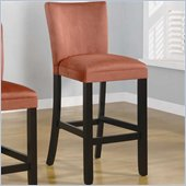 Coaster Bloomfield 29 Microfiber Bar Stool in Terracotta