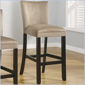 Coaster Bloomfield 29 Microfiber Bar Stool in Taupe