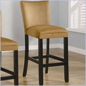 Coaster Bloomfield 29 Microfiber Bar Stool in Gold Ochre