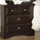 Coaster Harbor Classic 3 Drawer Nightstand in Cappuccino Finish