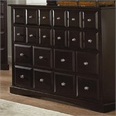Coaster Harbor Classic 8 Drawer Dresser in Cappuccino Finish
