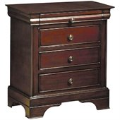 Coaster Versailles 3 Drawer Nightstand in Mahogany Stain Finish