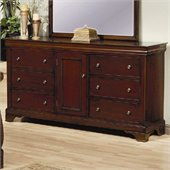 Coaster Versailles 6 Drawer Dresser in Mahogany Stain Finish