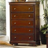 Coaster Versailles 5 Drawer Chest with Lift Top in Mahogany Stain