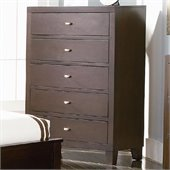 Coaster Lorretta Chest with 5 Drawers in Dark Brown Finish