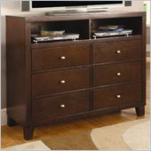 Coaster Lorretta TV Dresser with Shelves and Drawers in Dark Brown