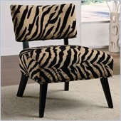 Coaster Accent Seating Upholstered Accent Side Chair in Zebra Print