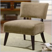 Coaster Accent Seating Upholstered Accent Side Chair in Tan