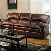 Coaster Walter Casual Dual Reclining Sofa in Brown Bonded Leather