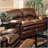 Coaster Walter Casual Reclining Love Seat in Brown Bonded Leather