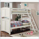 Coaster Twin over Twin/Full Louvered Bunk Bed