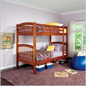 Coaster Twin over Twin Bunk Bed in Warm Oak Finish