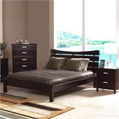 Coaster Auburn Queen Platform Bed 2 Piece Bedroom Set in Cappuccino