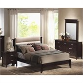Coaster Kendra Platform Bed 4 Piece Bedroom Set in Mahogany